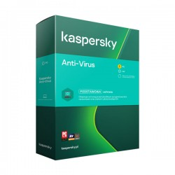 Kaspersky Anti-Virus: 1 stanowisko 1 rok. Licencja nowa.